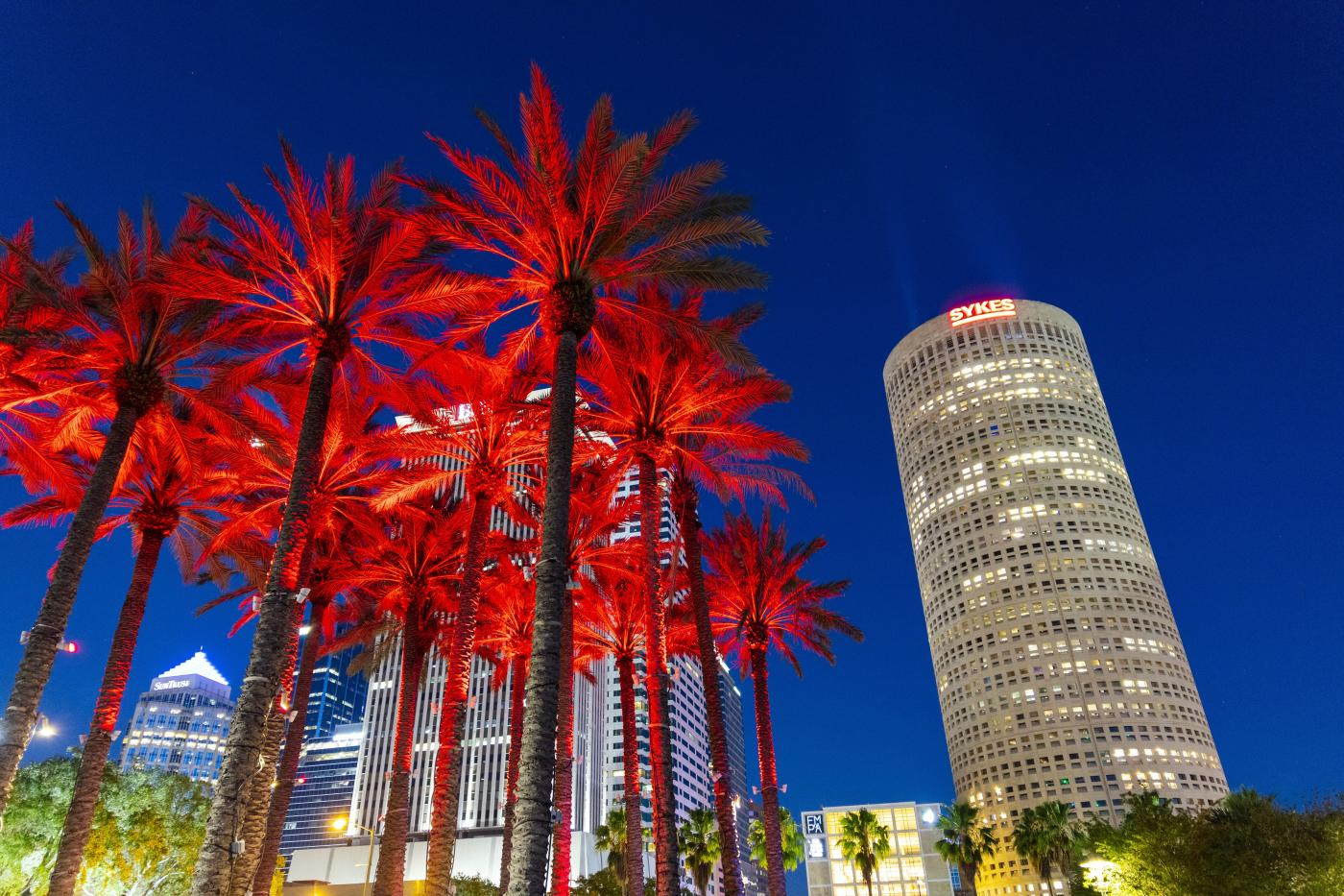 Tampa in red for National Travel and Tourism Week