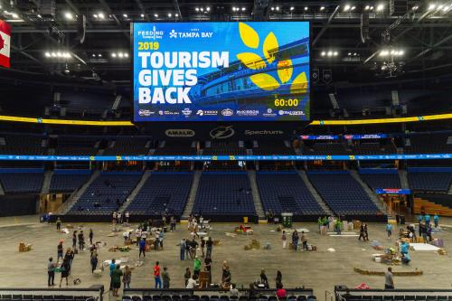 Tourism Turns Amalie Arena into a Can-struction Site