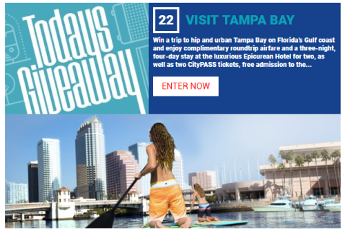 "Tampa Bay leads off Travel Channel's ""30 Days of Getaways"""