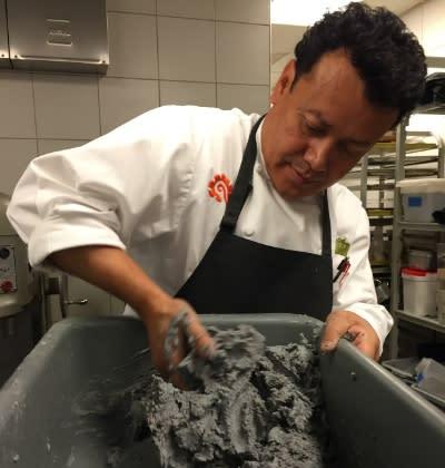 Hugo Ortega making tortillas