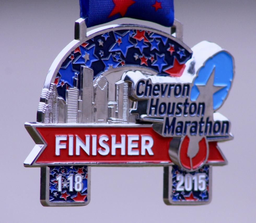 Chevron Houston Marathon Medal Yo Mariana