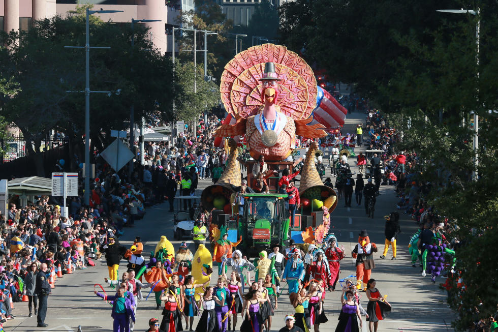 thanksgiving, parade, heb, downtown, holiday, holidays