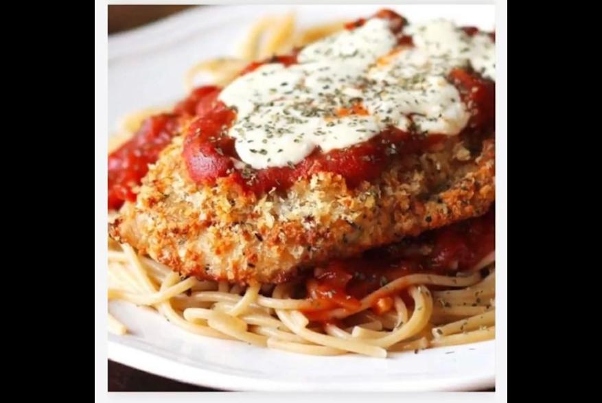 Carpaccio's chicken Parmigiana.
