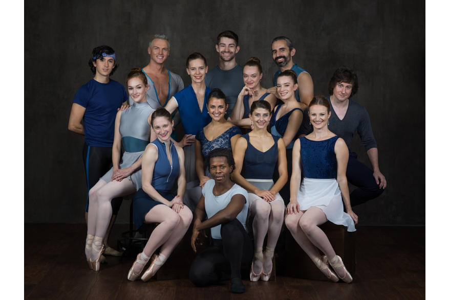 Group photo of Ballet Theatre of Maryland Prinicpal Dancers.