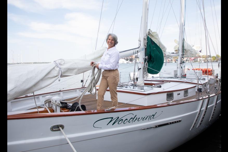 Capt. Jen of Annapolis Sailing Cruises: Schooner Woodwind