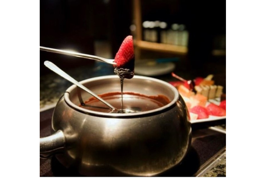 Chocolate Fondue from the Melting pot.