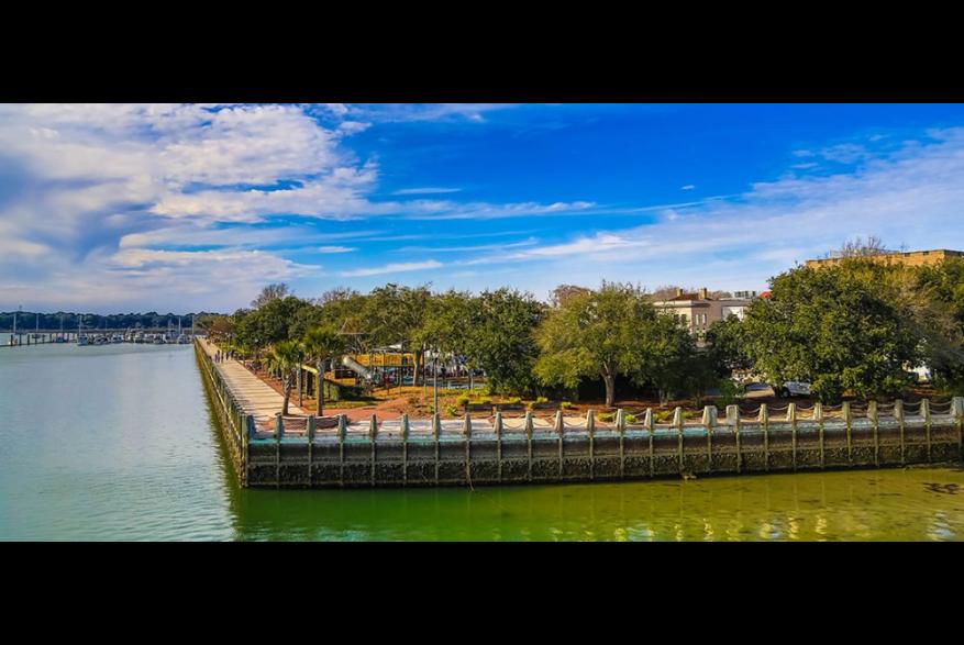 Park overlooking water