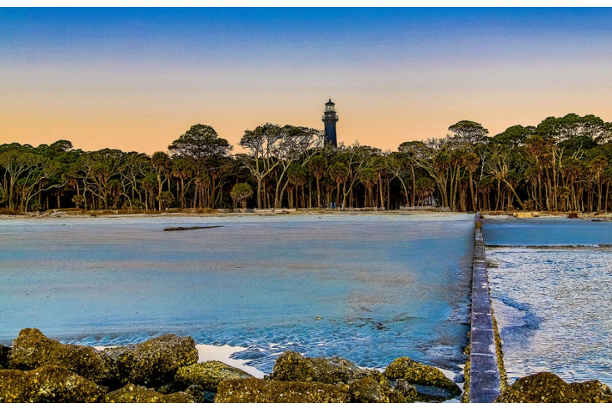 Tree line with Lighthouse