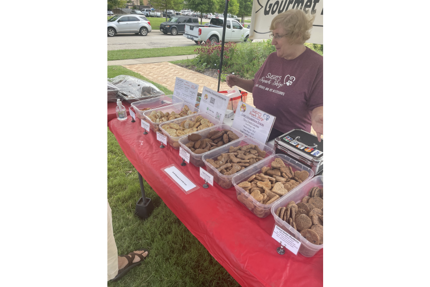 Dog Treat Vendor at Denton Community Market