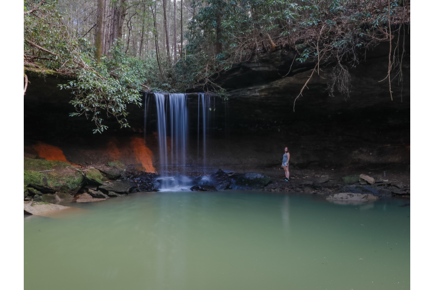 #CaptureTheKentuckyWildlands Photo Contest May/June 2021 - Natural World Category - Amos Falls 2 Whitley County - Photo by Lisa M