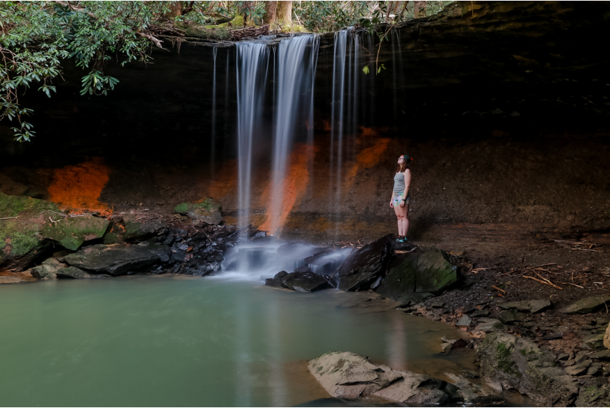 #CaptureTheKentuckyWildlands Photo Contest May/June 2021 - Natural World Category - Amos Falls Whitley County Photo by Lisa M