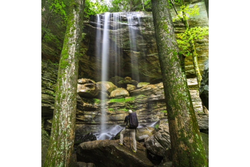 #CaptureTheKentuckyWildlands Photo Contest May/June 2021 - Natural World Category - Anglin Falls Photo by Dustin Robinson