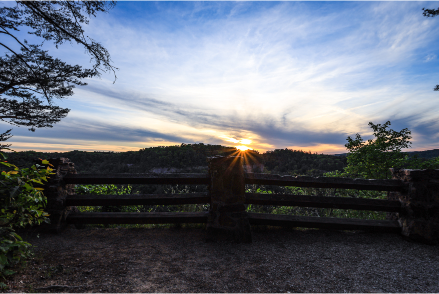 #CaptureTheKentuckyWildlands Photo Contest May/June 2021 - Travel - Sunset at Devil's Canyon - Red River Gorge Photo by Dustin Robinson
