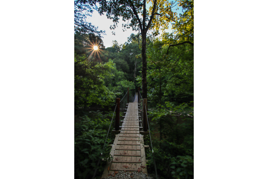 #CaptureTheKentuckyWildlands Photo Contest May/June 2021 - The Kentucky Experience - Freedom Swinging Bridge Wayne County Photo by Dustin Robinson