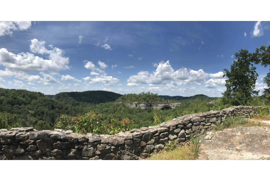 #CaptureTheKentuckyWildlands Photo Contest May/June 2021 - The Kentucky Wildlands Experience - Stone Wall in McCreary County Photo by Kim Hudson