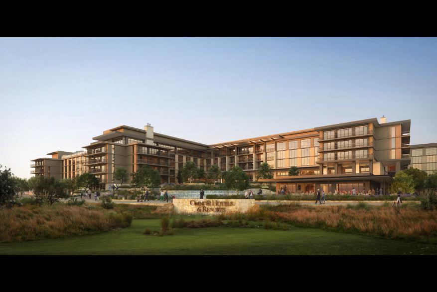 Rendering of Omni PGA Frisco Resort Front View