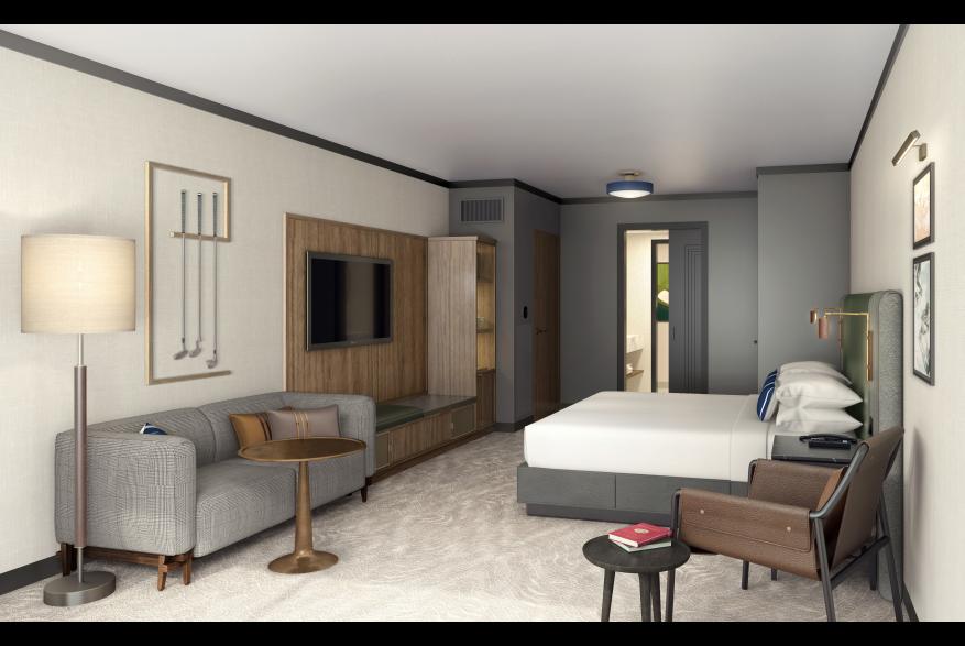 Rendering of a guestroom in Omni PGA Frisco Resort