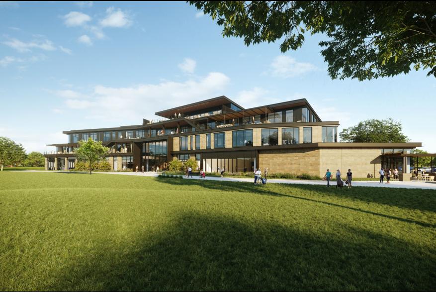 Rendering of PGA of America HQ in Frisco
