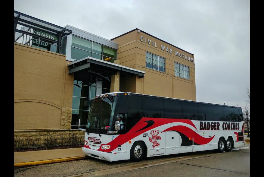 bus outside The Civil War Museum