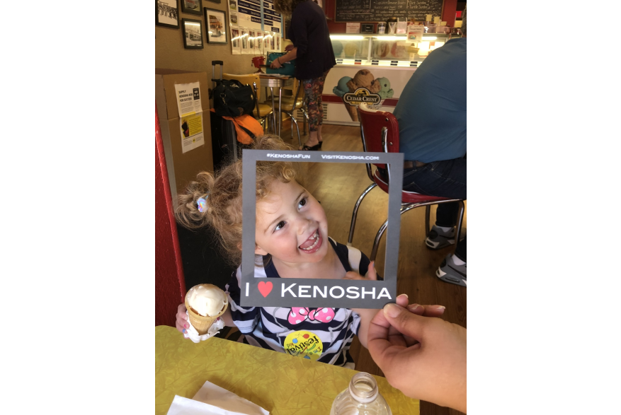 ice cream at Sandy's Popper
