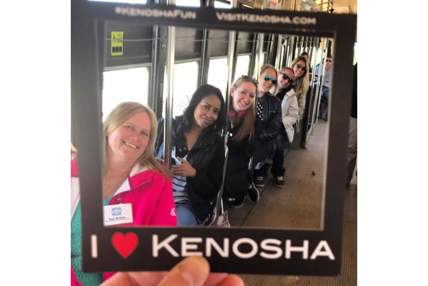 group on Electric Streetcar