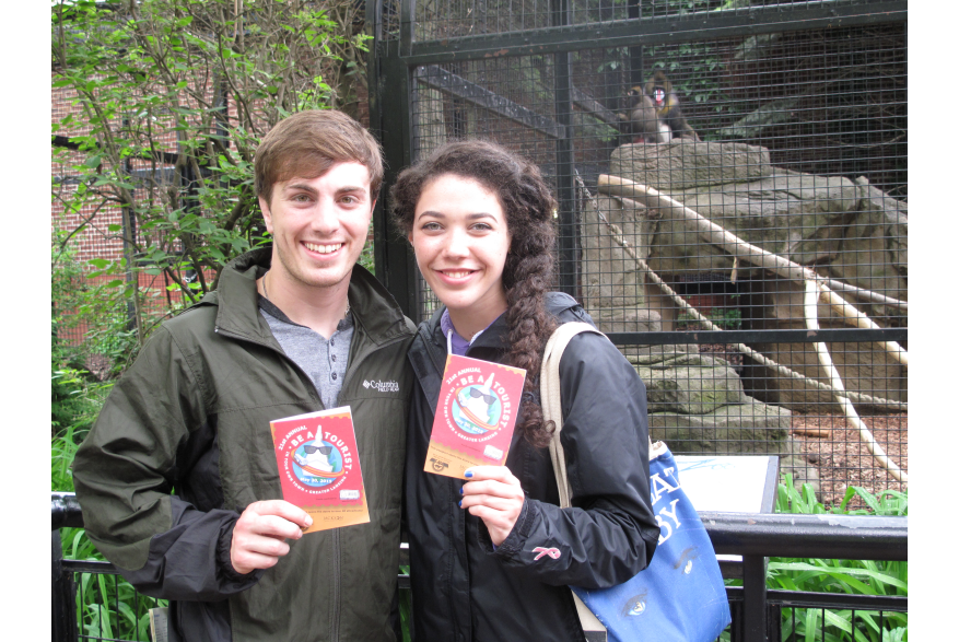 Couple stops at Potter Park Zoo during Be A Tourist In Your Own Town