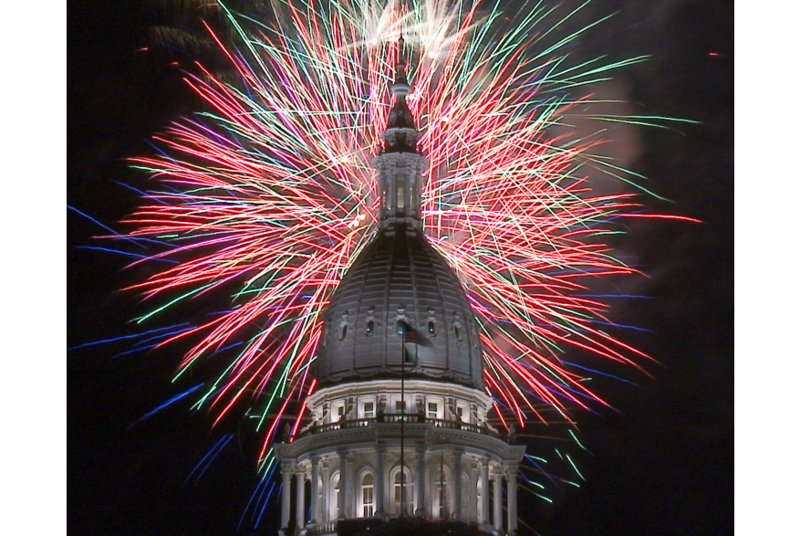 Silver Bells Fireworks at the State Captiol Building