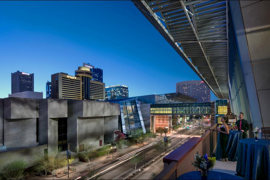 Phoenix Convention Center at night