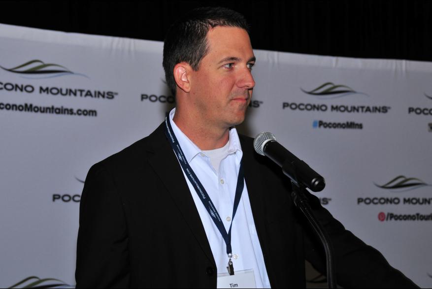 2015 Annual Report Luncheon Award Winner Simpleview Tim Thurein PoconoMtns