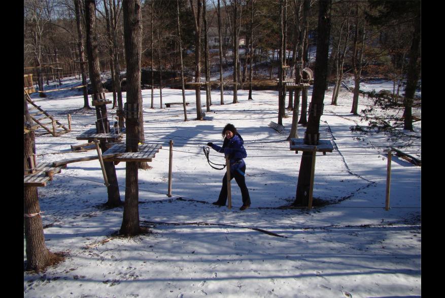 Aventure Park Fun at Pocono TreeVentures in the Pocono Mountains