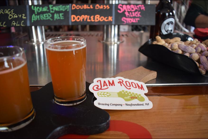 Agritourism Beer Flight Jam Room Brewing Co 7 PoconoMtns
