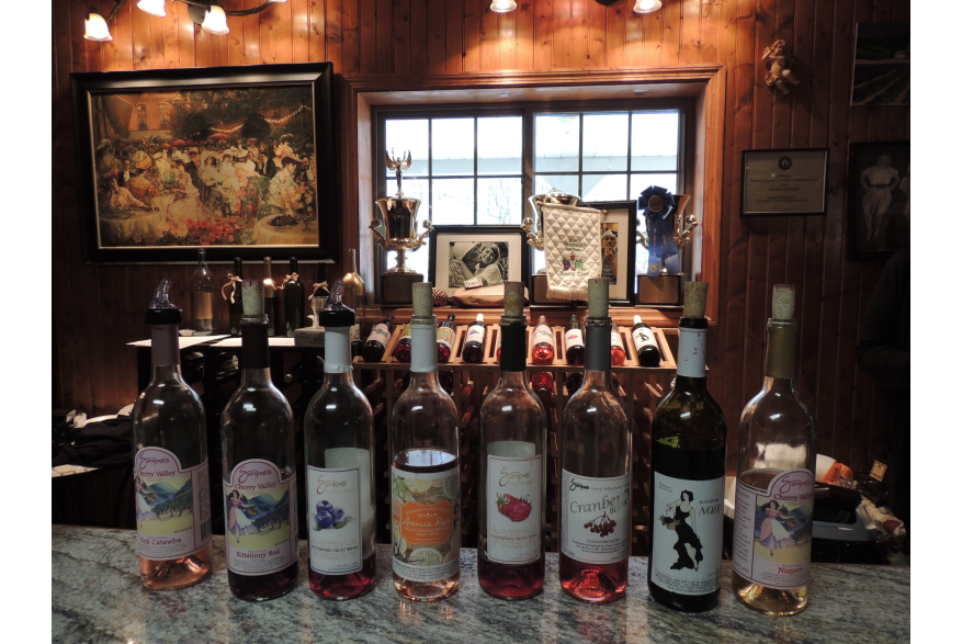 Wine Tasting at Cherry Valley Vineyards in the Pocono Mountains