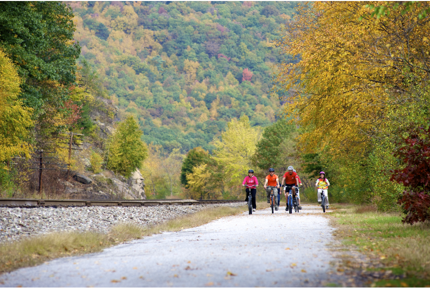 Fall Bike Ride in the Pocono Mountains