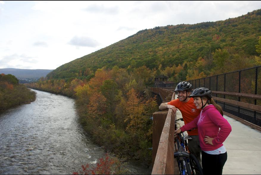 Biking in the Pocono Mountains