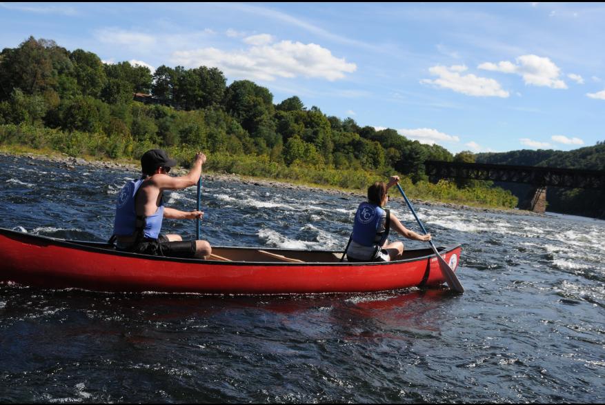 Canoe Rides in the Pocono Mountains