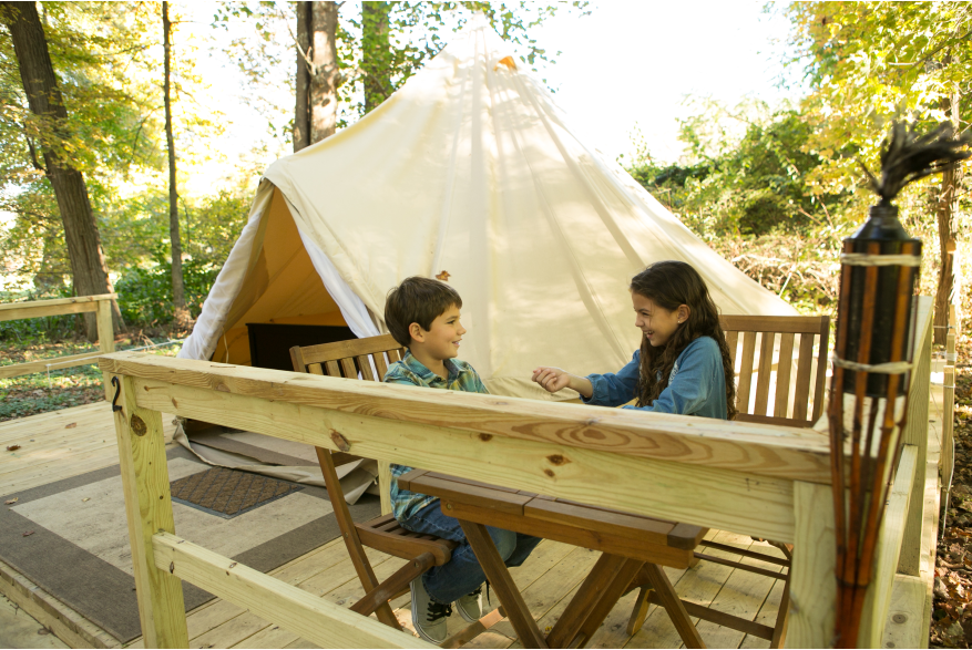 Glamping in the Pocono Mountains