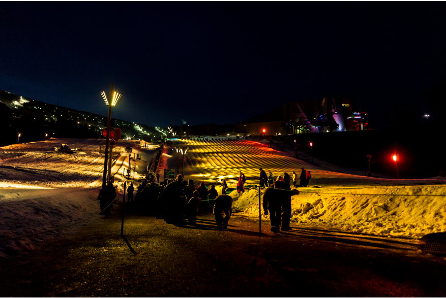 Galactic Snow Tubing at Camelback Resort in the Pocono Mountains