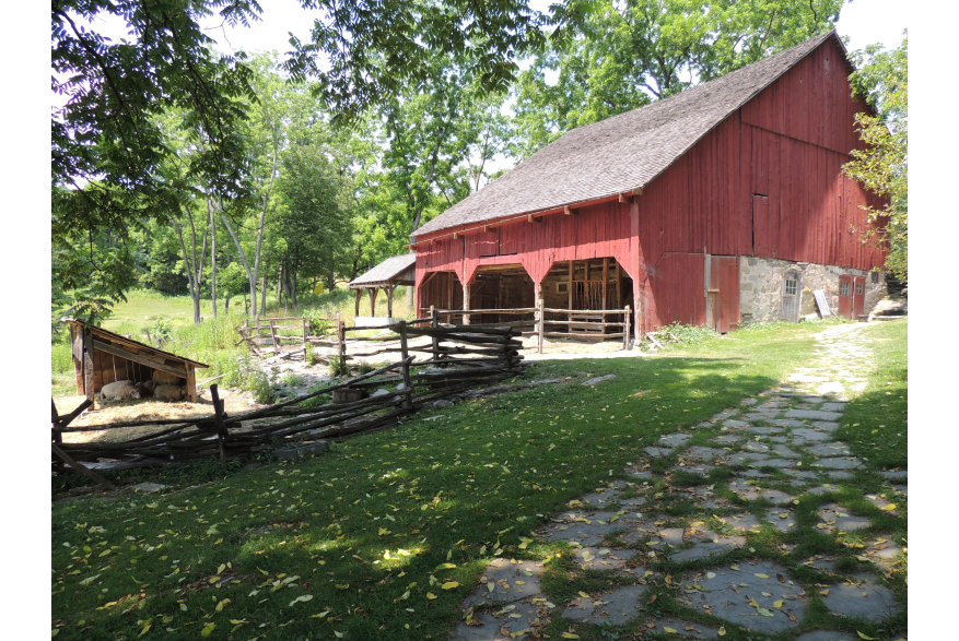 Pathway to the Bank Barn at Quiet Valley