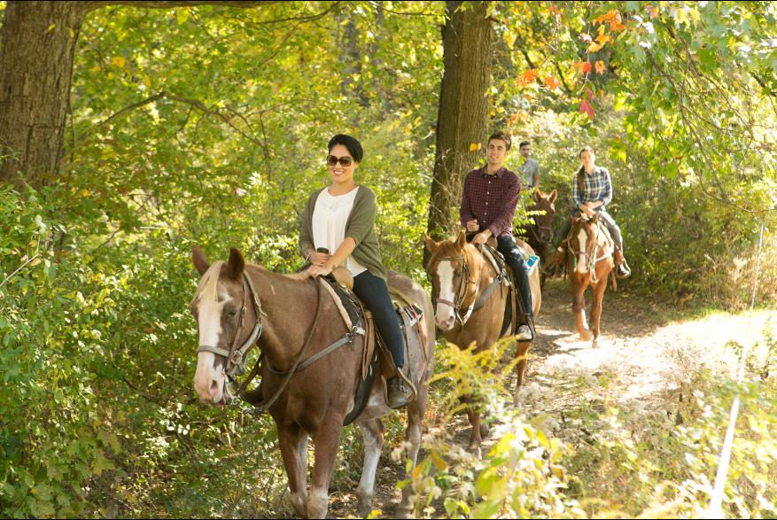 Horseback Riding at Fernwood Resort in the Pocono Mountains