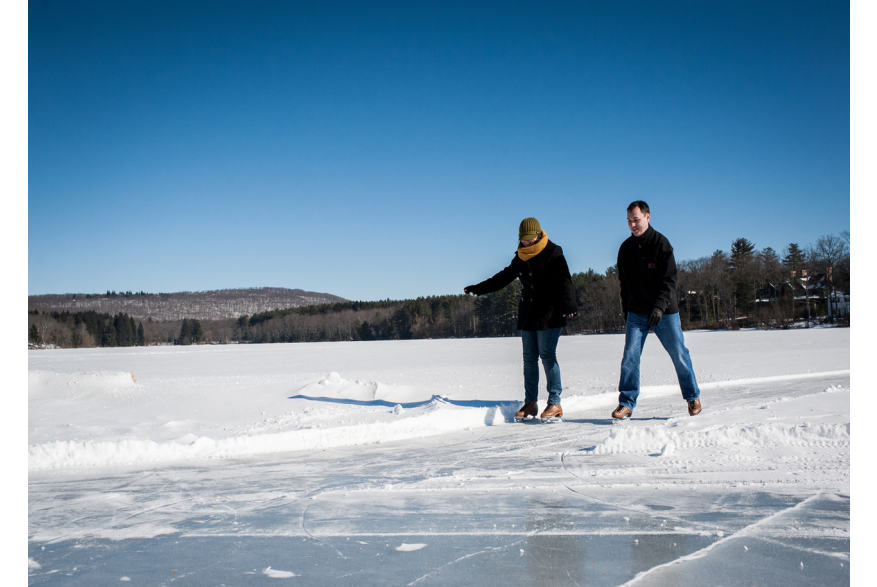 Ice Skating in the Pocono Mountains
