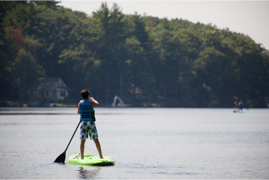 Stand-up paddle board in the Pocono Mountains