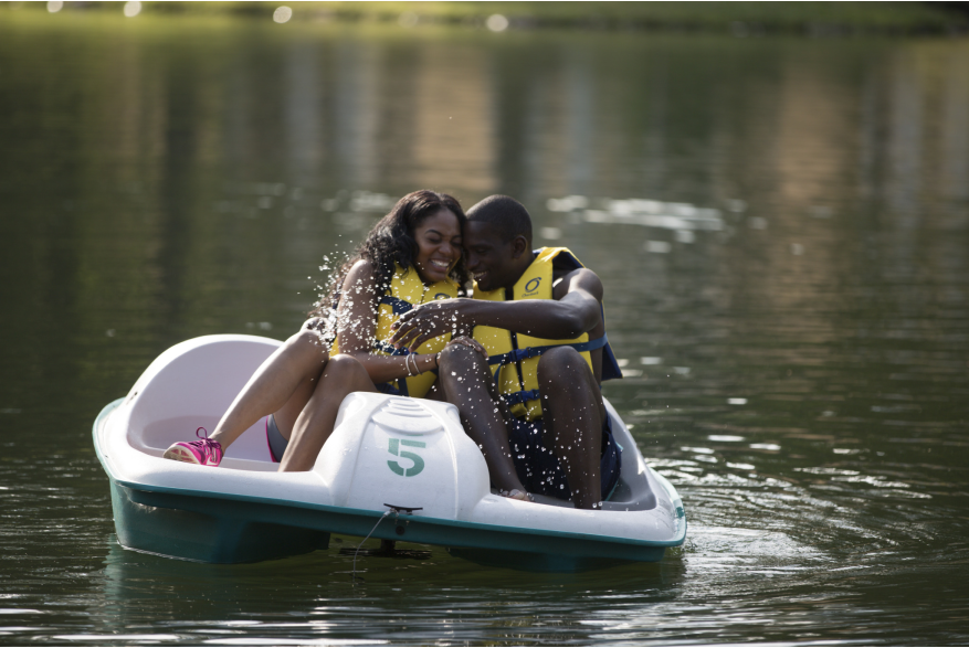Romantic Fun on a Paddle Boat