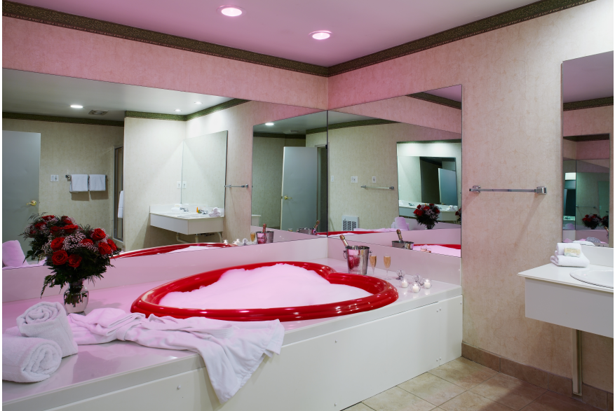 Heart Shaped Tubs at Cove Haven Resort in the Pocono Mountains