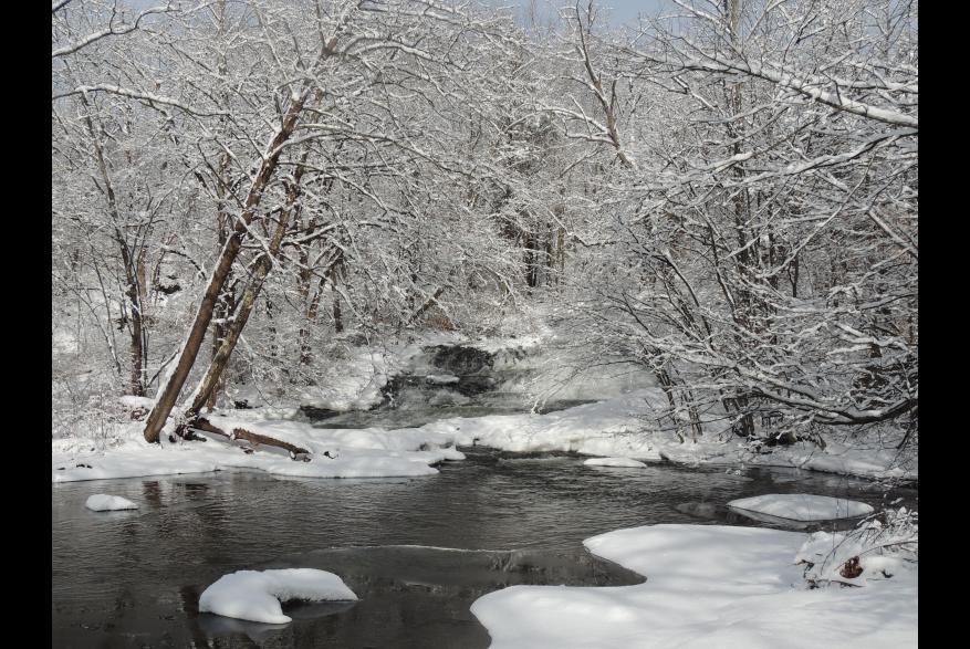 Delaware River in the Winter Season