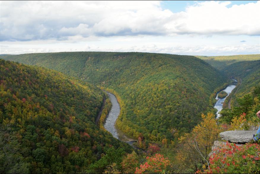 Catch the foliage from a scenic Pocono view