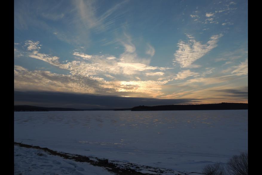 Frozen Lake Wallenpaupack