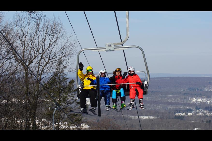 Skiing at Shawnee Mountain