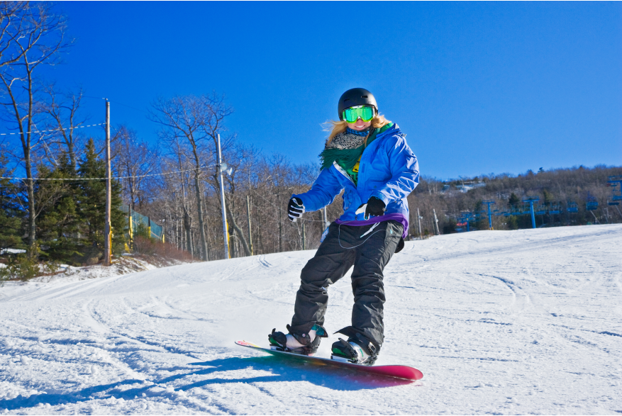 Snowboarding in the Pocono Mountains