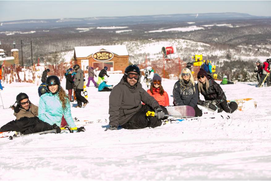 Snowboarding at Blue Mountain in the Pocono Mountains