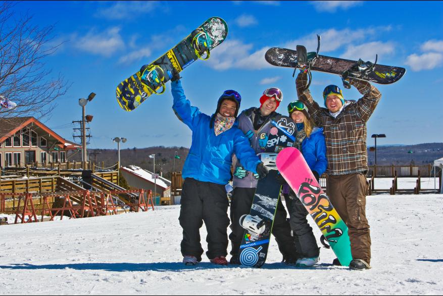 Snowboarding Fun in the Pocono Mountains